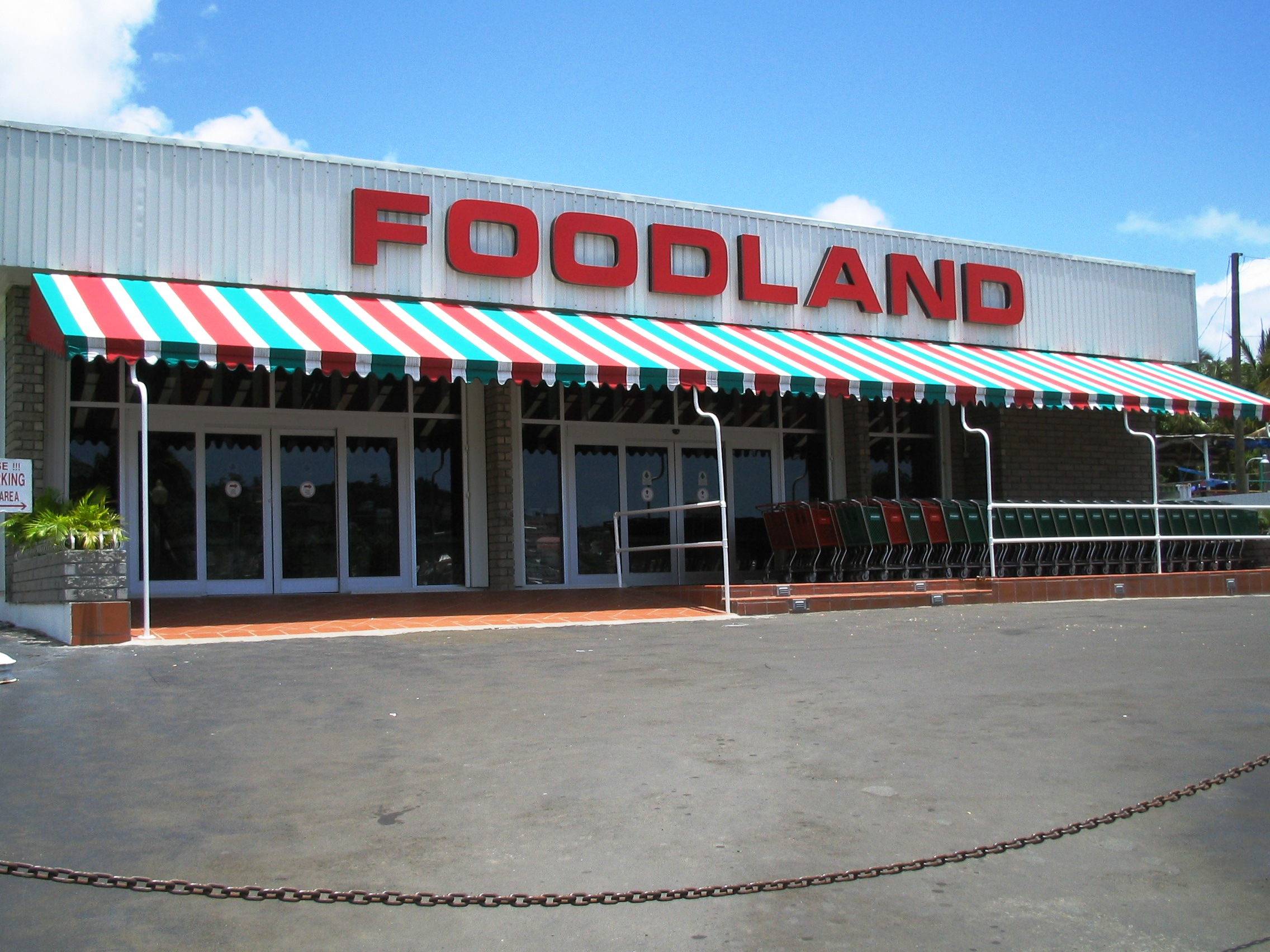 Foodland – Fixed Awnings